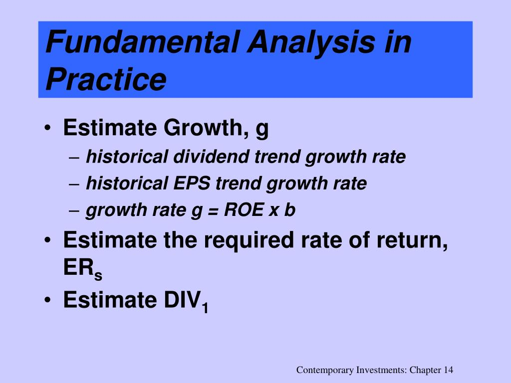 Fundamental Analysis in Practice