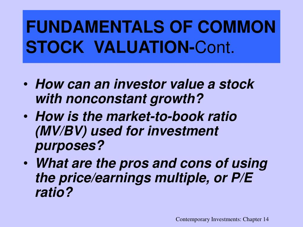 FUNDAMENTALS OF COMMON STOCK  VALUATION-