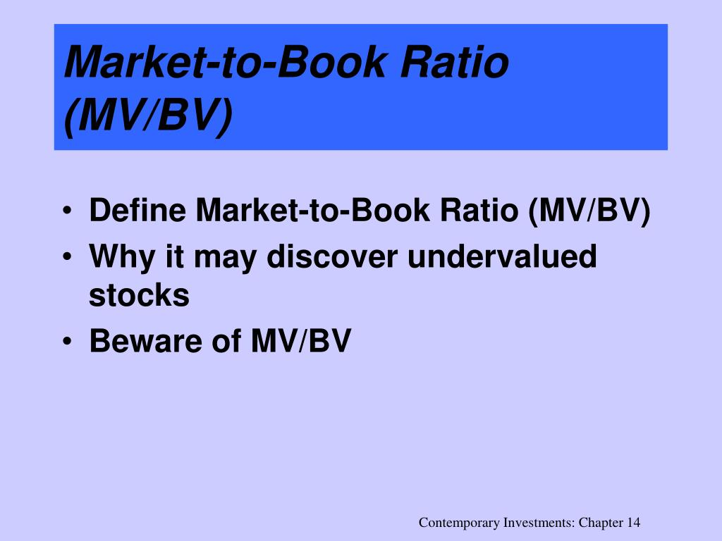 Market-to-Book Ratio (MV/BV)