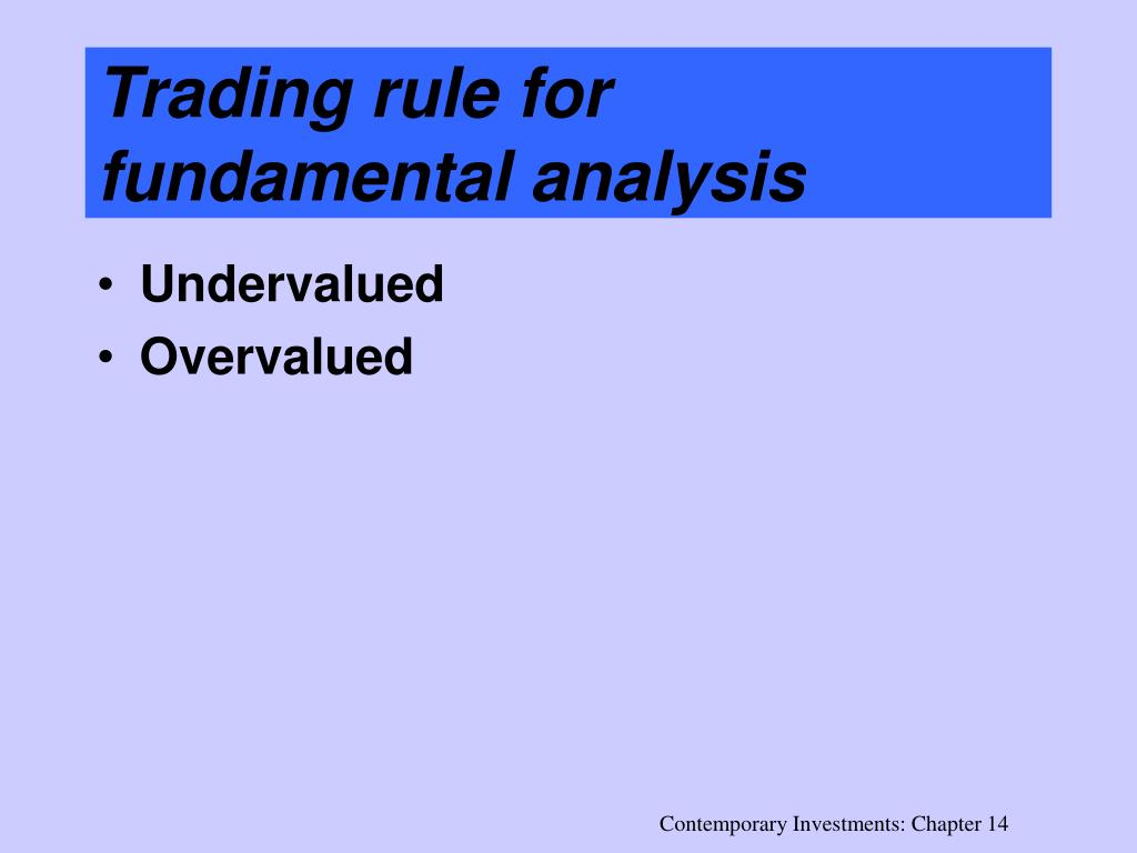 Trading rule for fundamental analysis