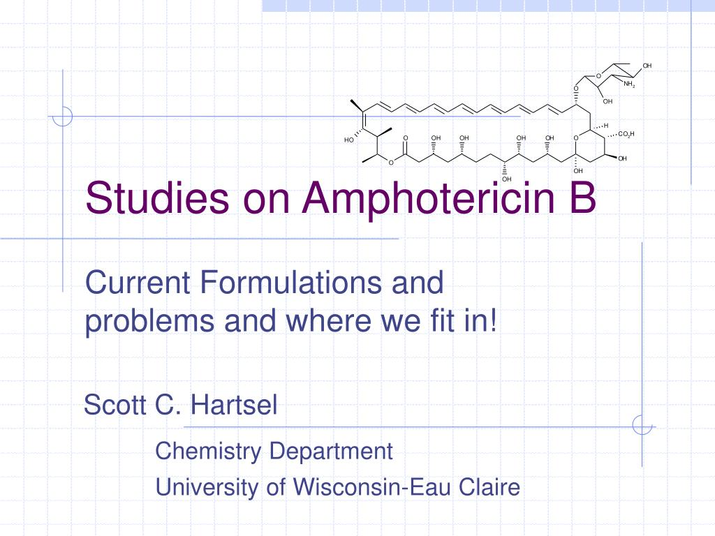 studies on amphotericin b l.