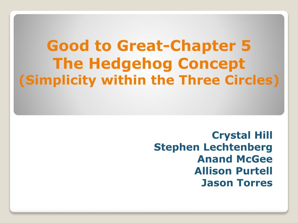 Good to Great-Chapter 5