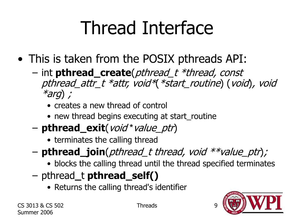 Thread Interface