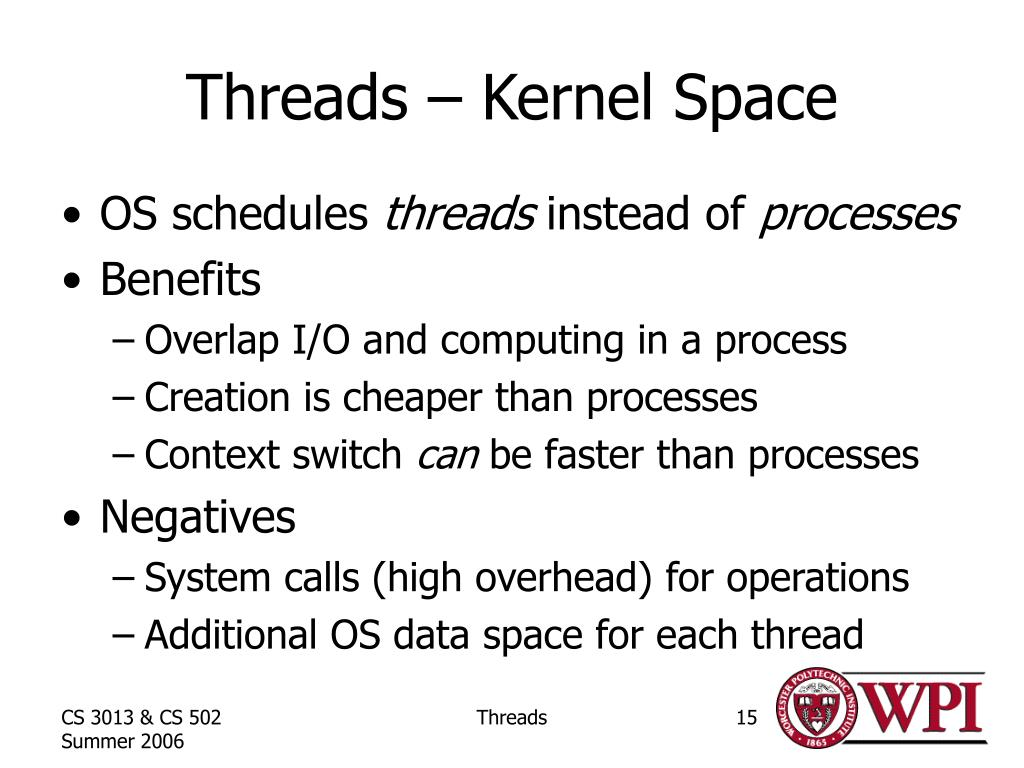Threads – Kernel Space