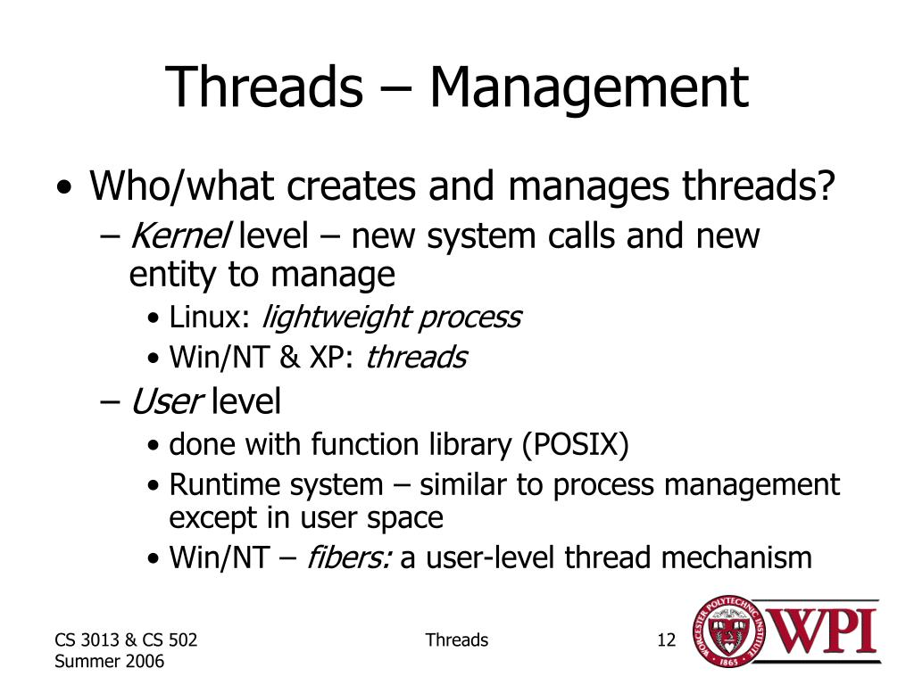 Threads – Management