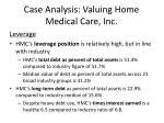 case analysis valuing home medical care inc15
