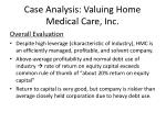 case analysis valuing home medical care inc16