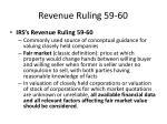 revenue ruling 59 60