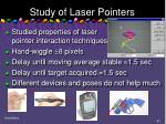 study of laser pointers
