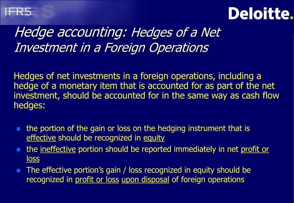 Hedge accounting: