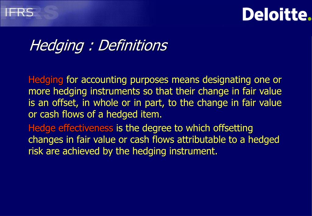 Hedging : Definitions