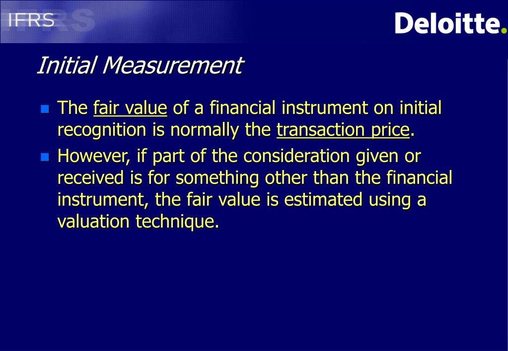 Initial Measurement