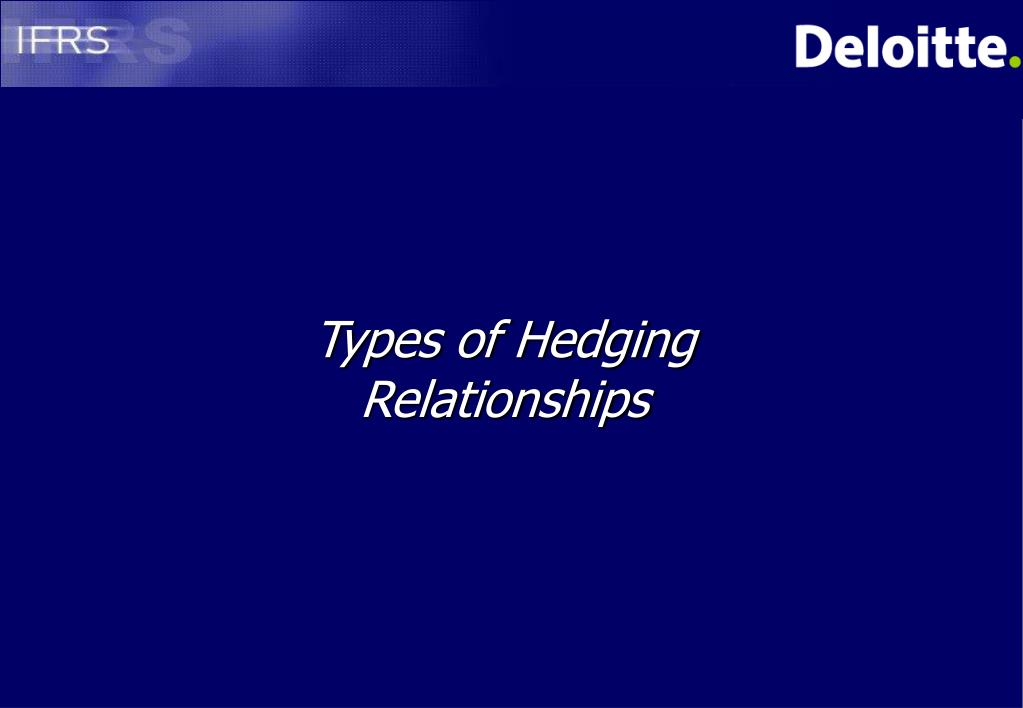 Types of Hedging Relationships