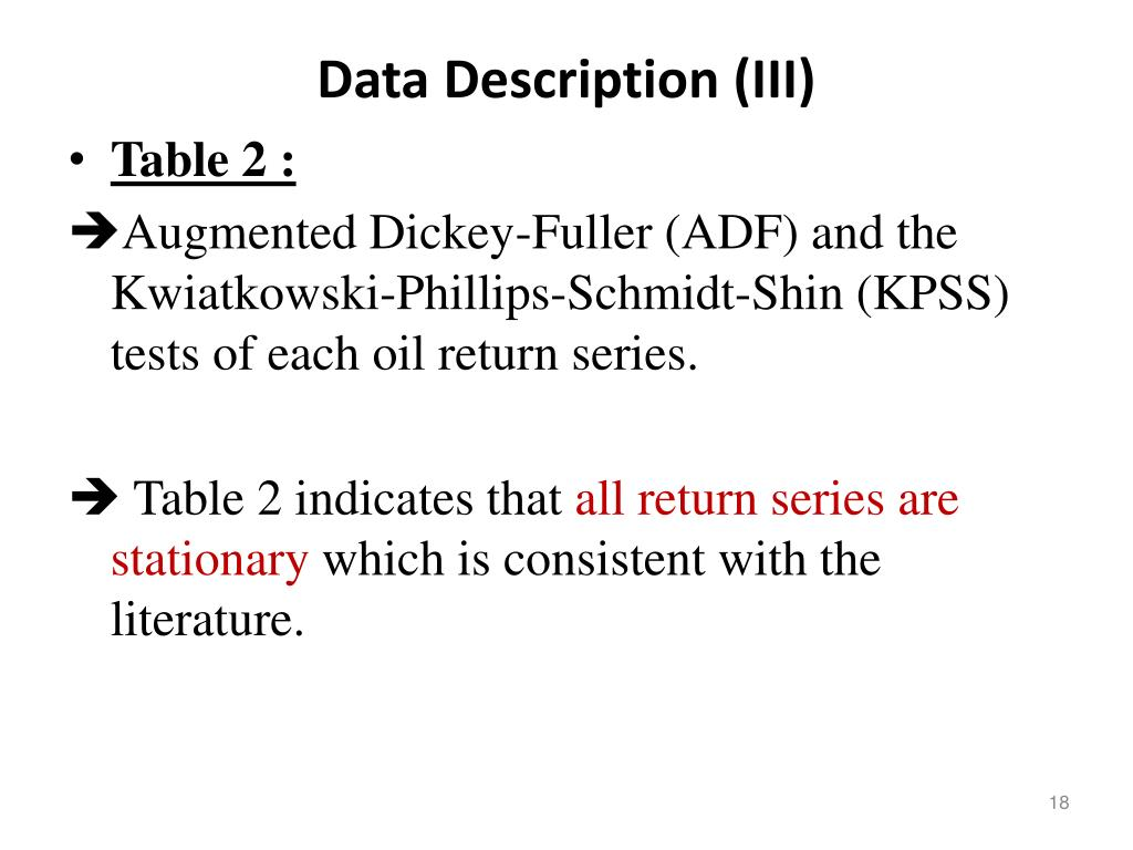 Data Description (III)