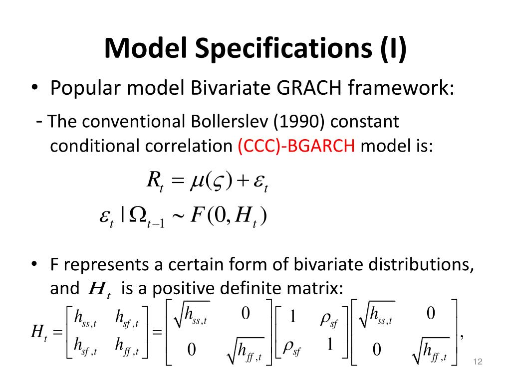 Model Specifications (I)