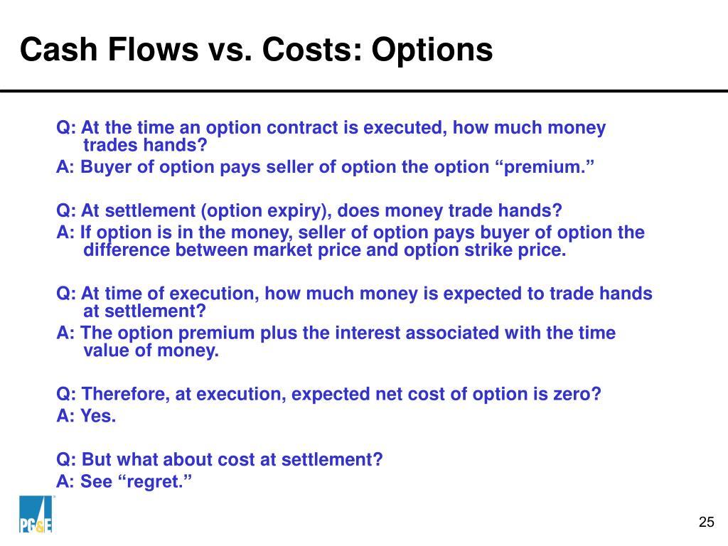 Cash Flows vs. Costs: Options
