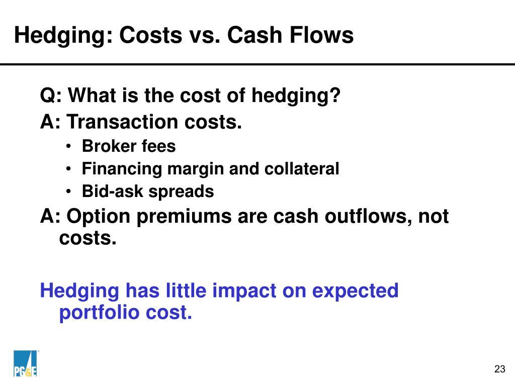 Hedging: Costs vs. Cash Flows