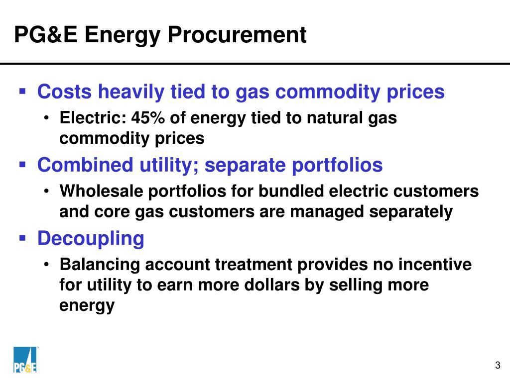 PG&E Energy Procurement