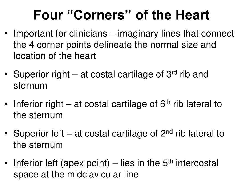 """Four """"Corners"""" of the Heart"""