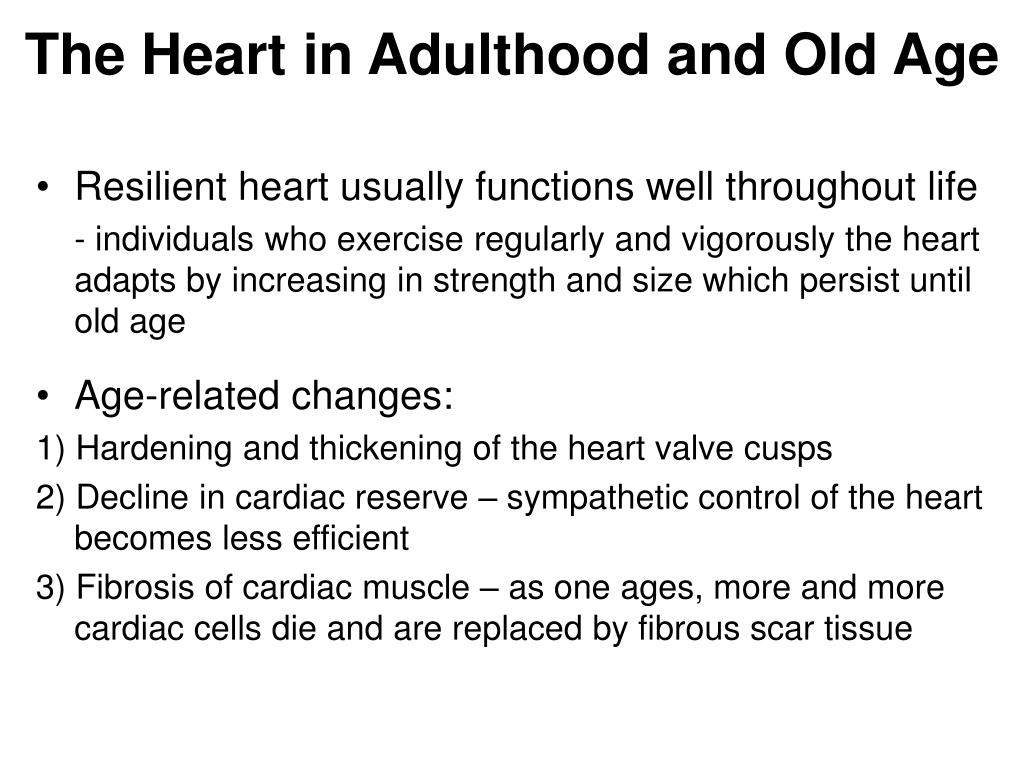 The Heart in Adulthood and Old Age