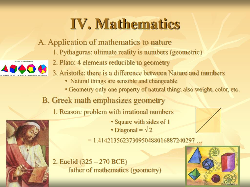 IV. Mathematics