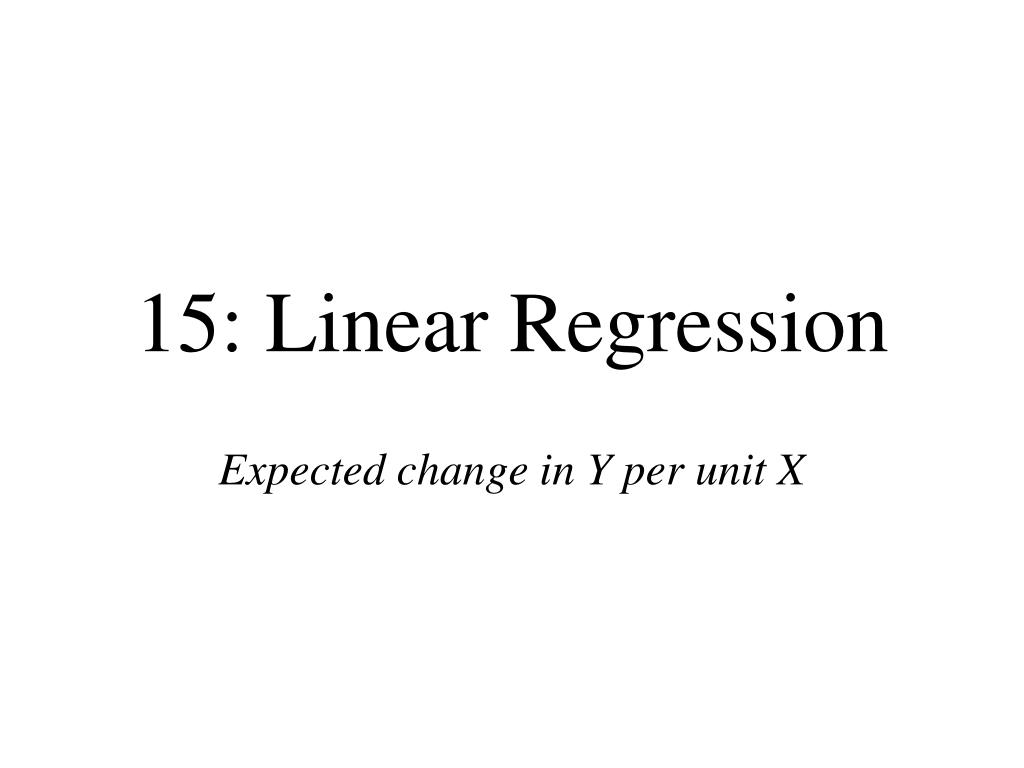 15 linear regression l.