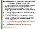 development of alternate assessments quenemoen rigney thurlow 2002