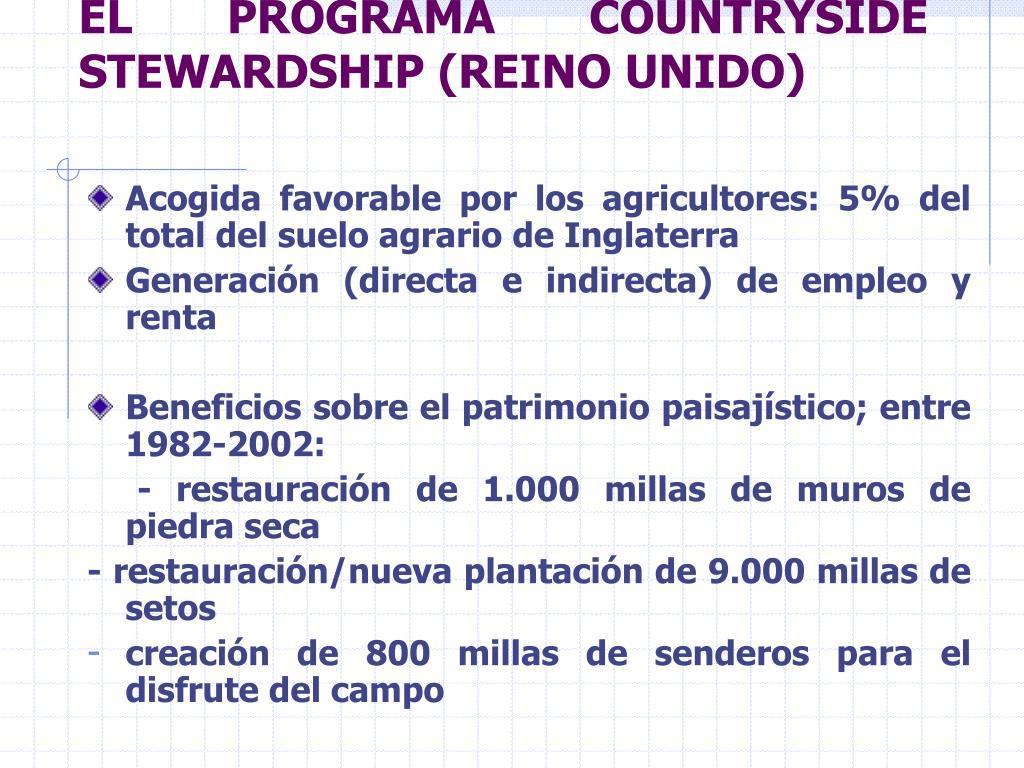 EL PROGRAMA COUNTRYSIDE STEWARDSHIP (REINO UNIDO)