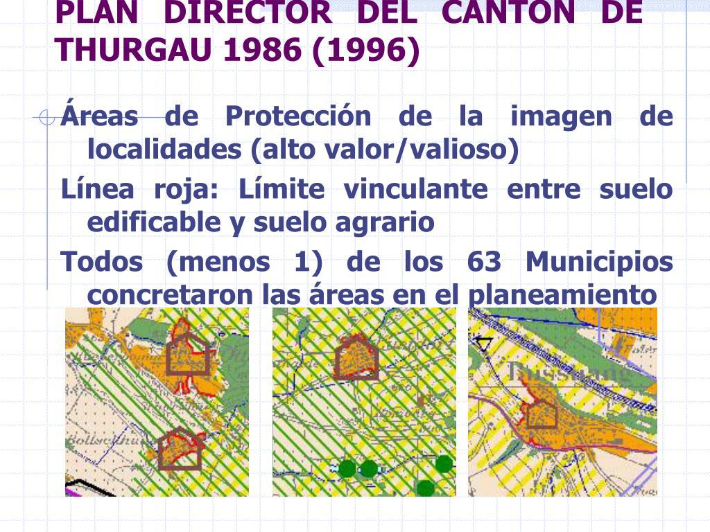 PLAN DIRECTOR DEL CANTÓN DE THURGAU 1986 (1996)