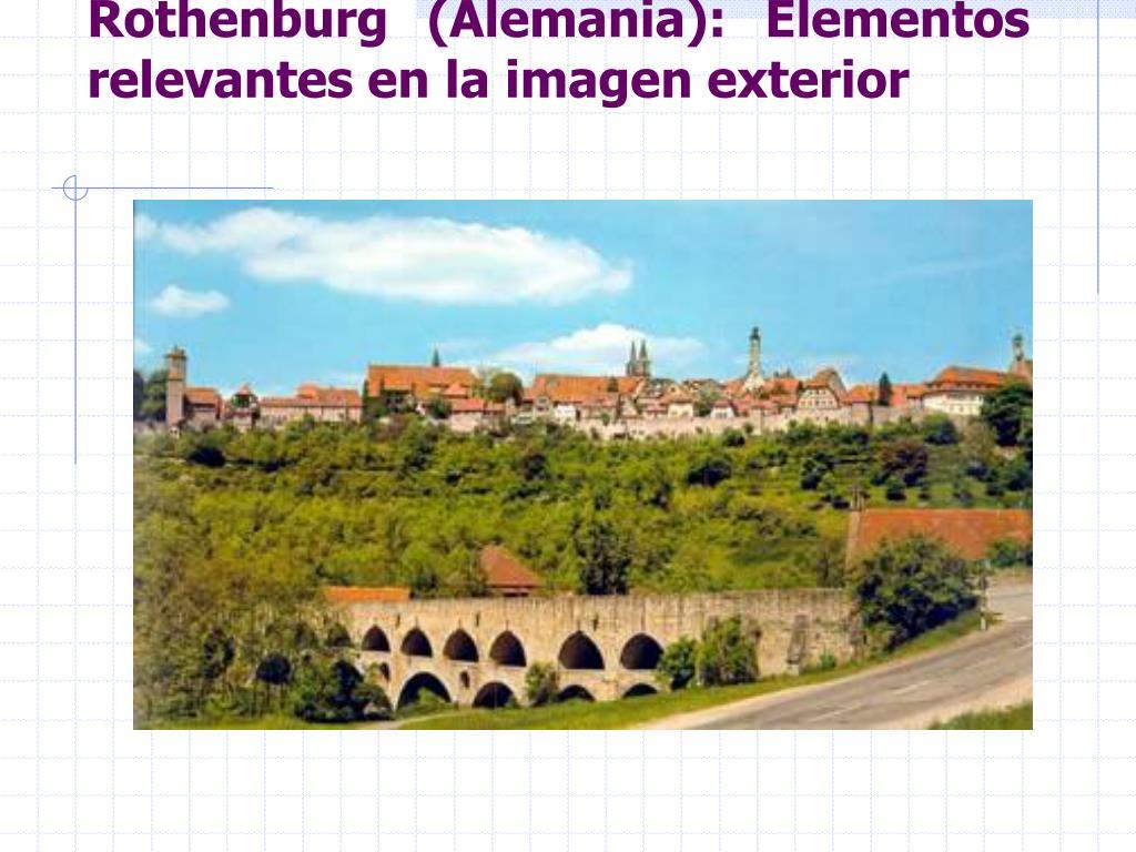 Rothenburg (Alemania): Elementos relevantes en la imagen exterior