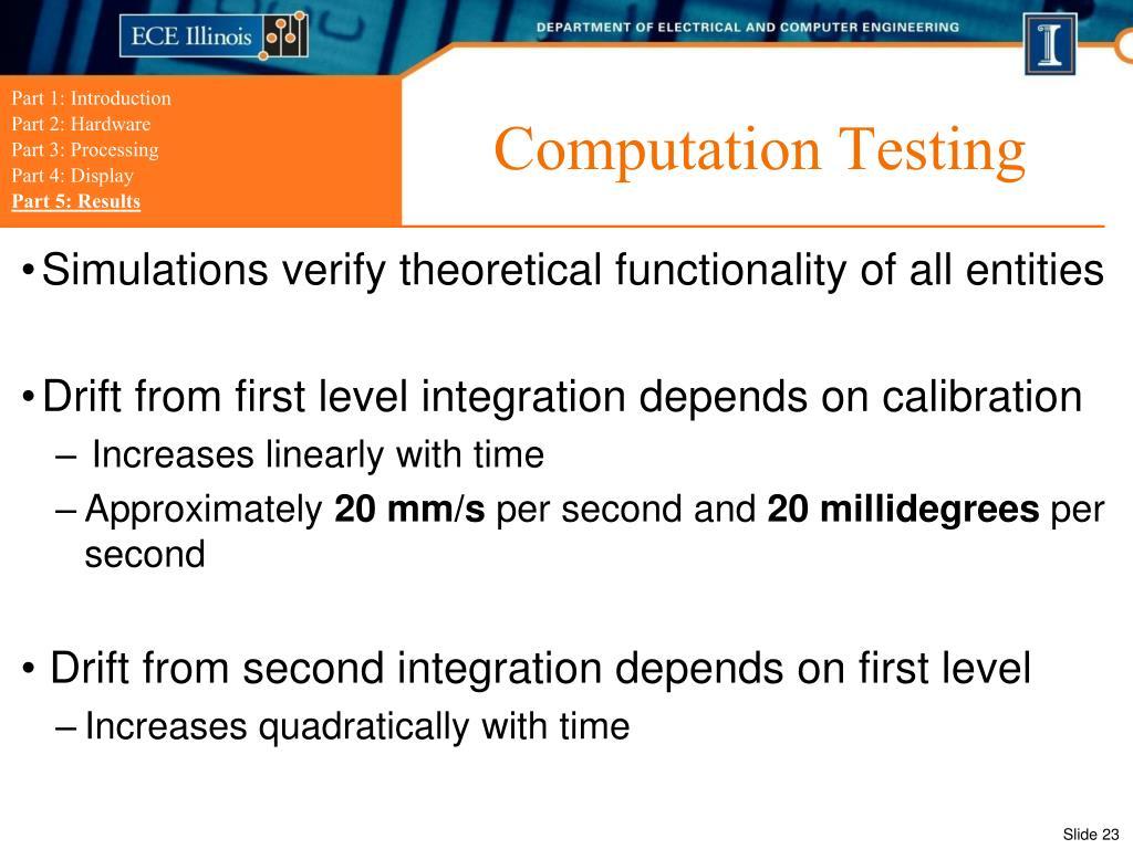 Computation Testing
