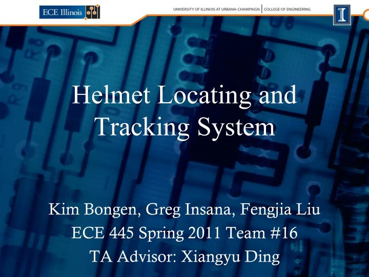 Helmet locating and tracking system