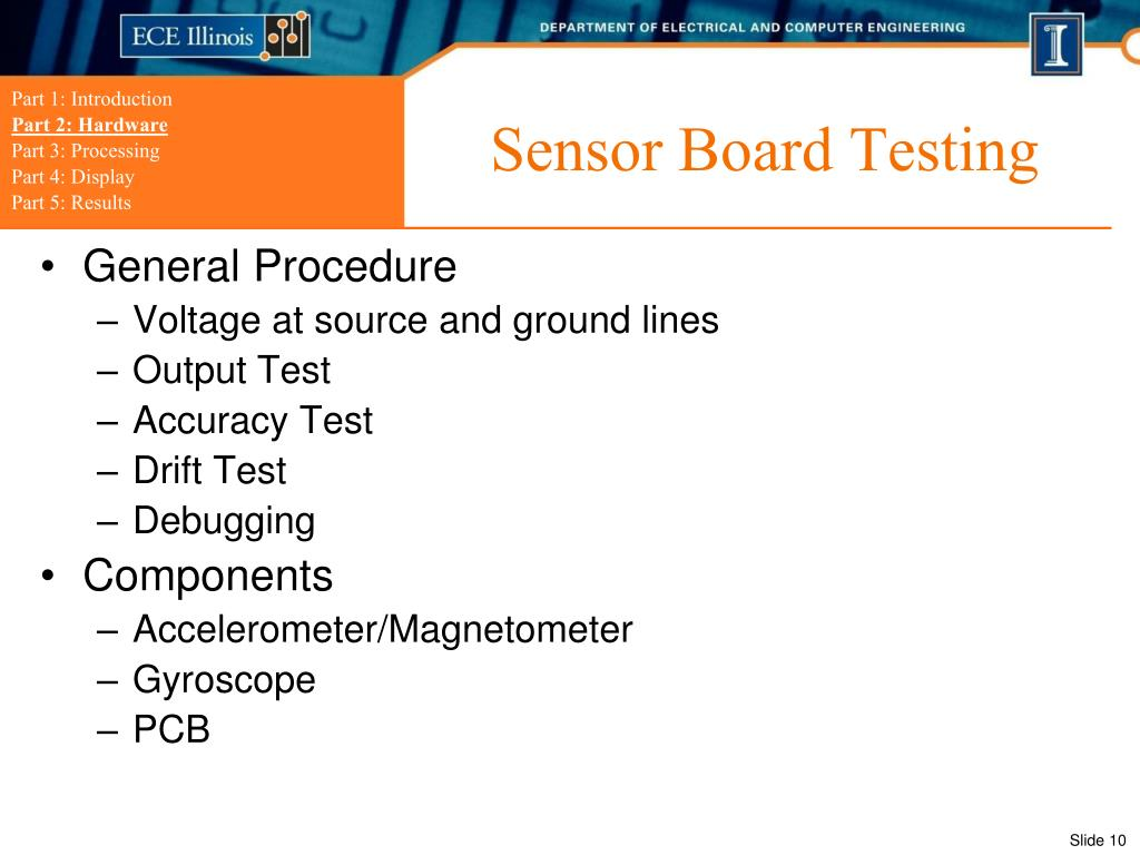 Sensor Board Testing