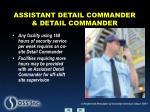 assistant detail commander detail commander