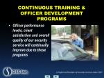 continuous training officer development programs