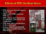 effects of ppe on heat stress