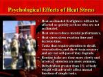 psychological effects of heat stress
