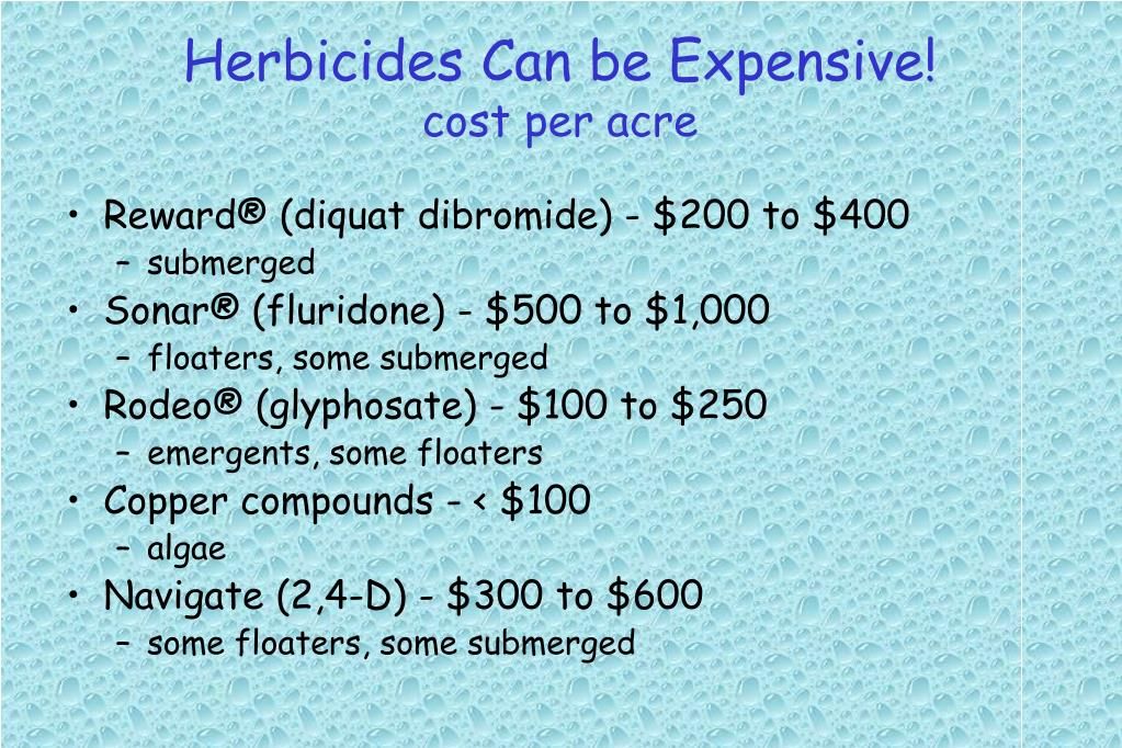 Herbicides Can be Expensive!