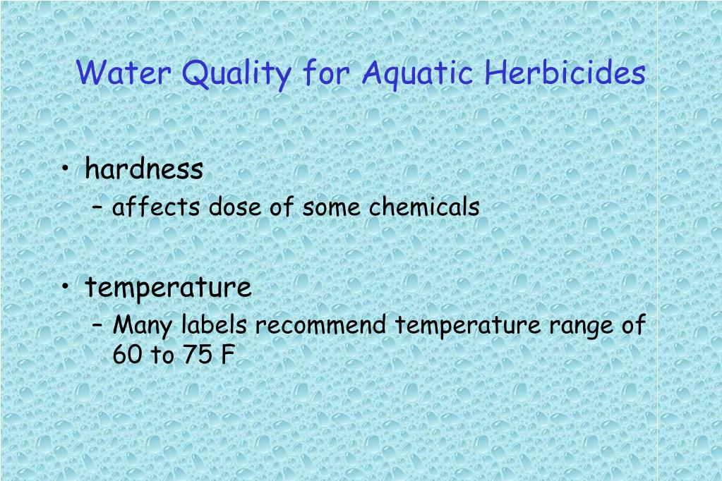 Water Quality for Aquatic Herbicides