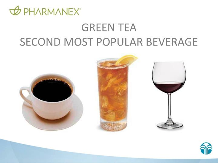 Green tea second most popular beverage