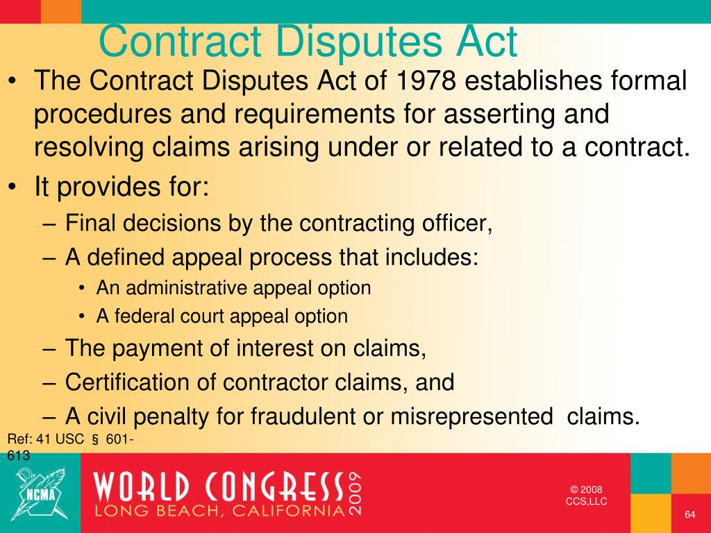 Contract Disputes Act