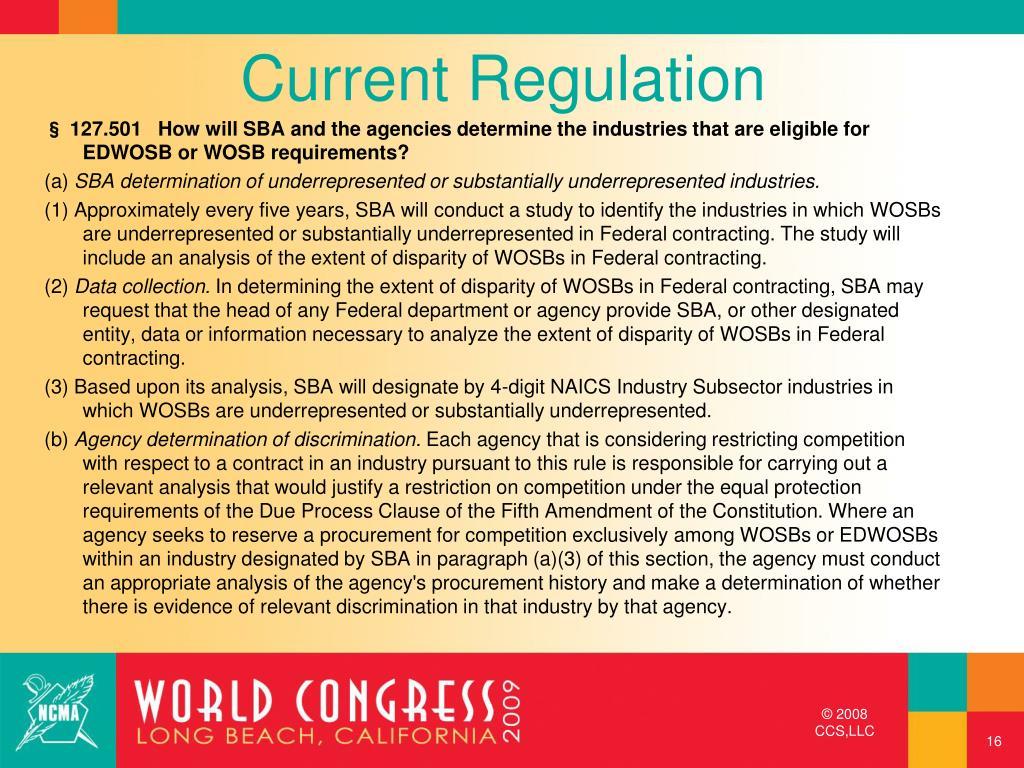 Current Regulation