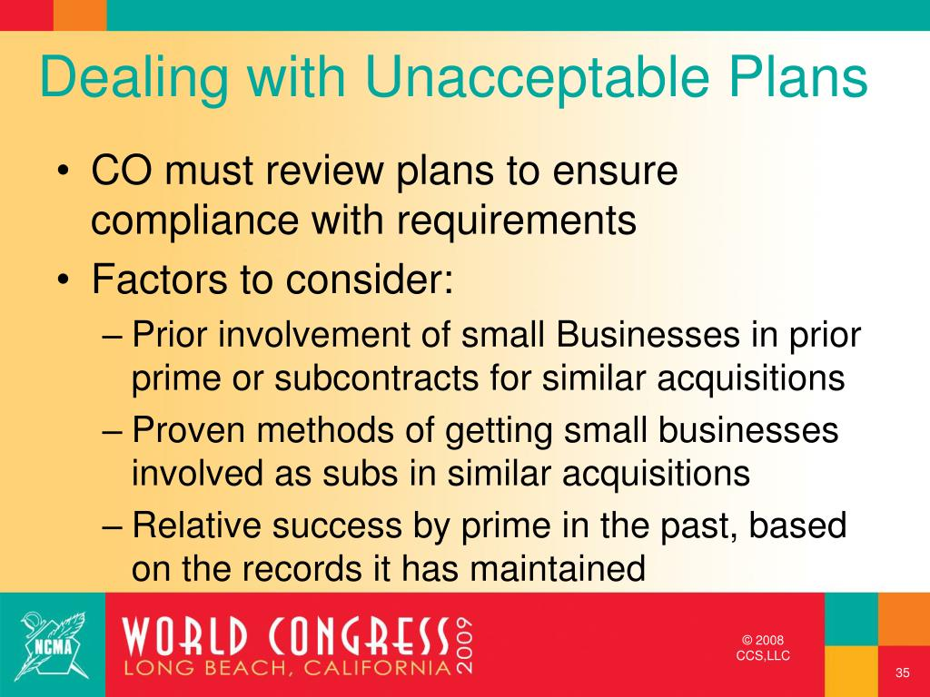 Dealing with Unacceptable Plans