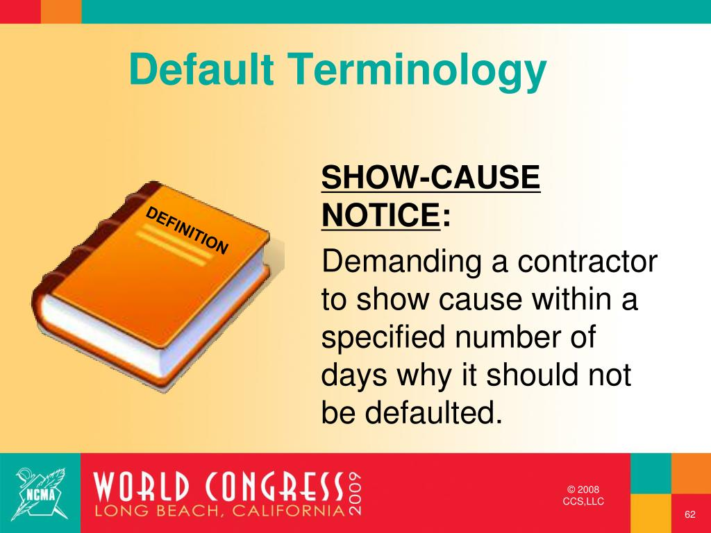 Default Terminology
