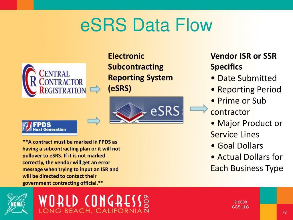 eSRS Data Flow