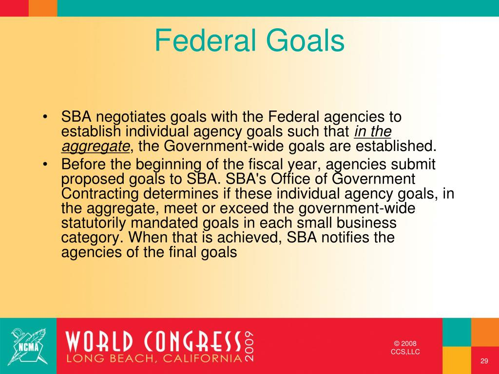 Federal Goals