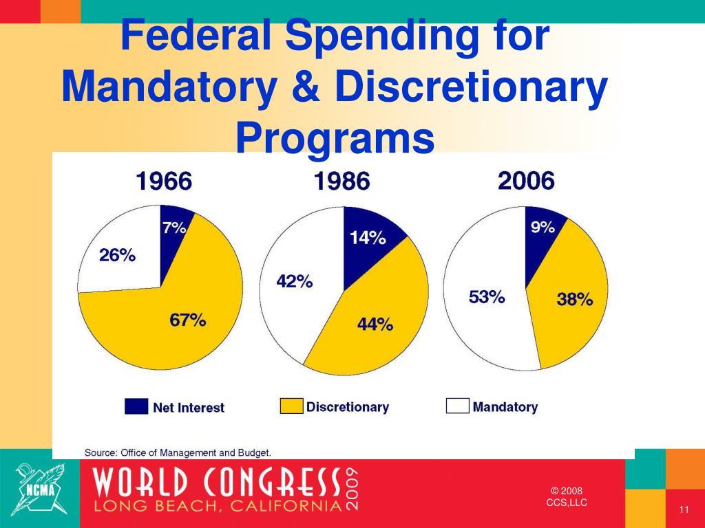 Federal Spending for Mandatory & Discretionary Programs