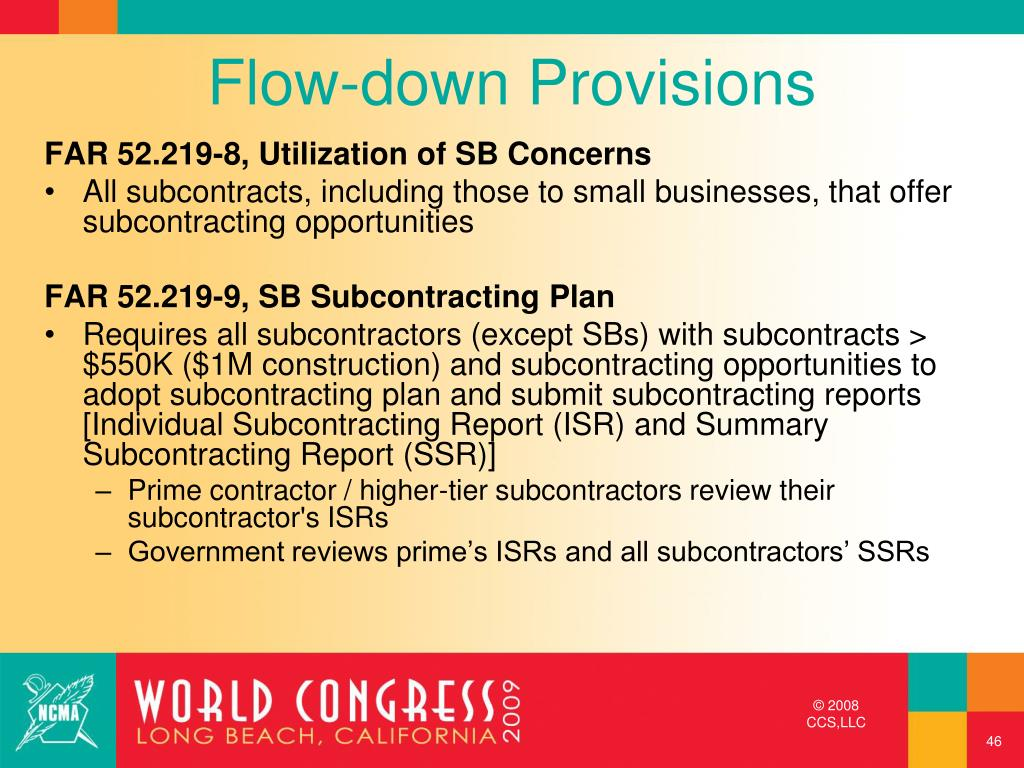 Flow-down Provisions