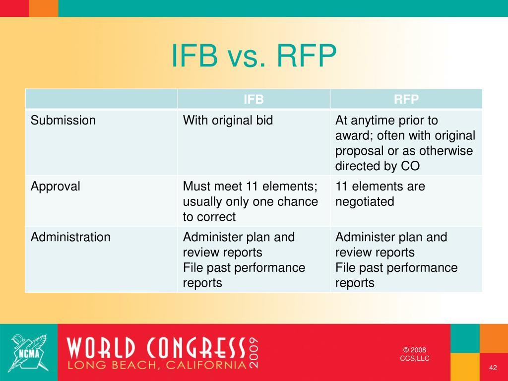 IFB vs. RFP