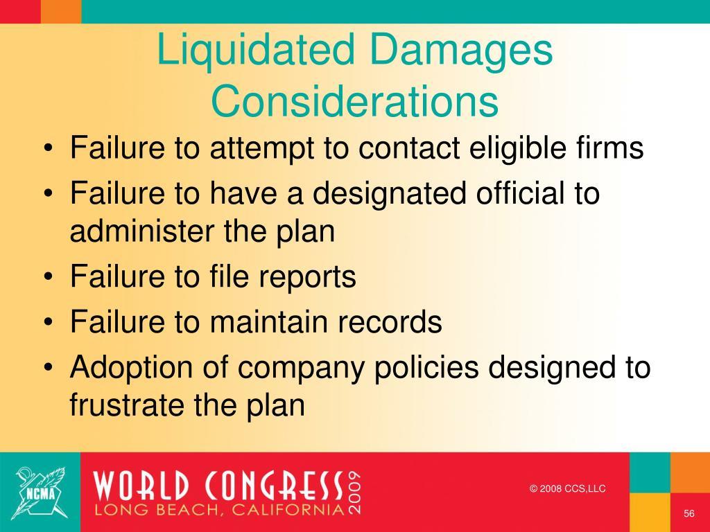 Liquidated Damages Considerations